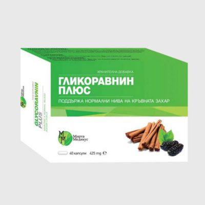 Гликоравнин плюс (капсули х40) - Поддържа нормални нива на кръвната захар и подкрепя обмяната на веществата.