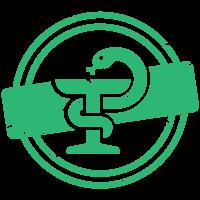 Змия около бокал (символ на фармацевтиката)