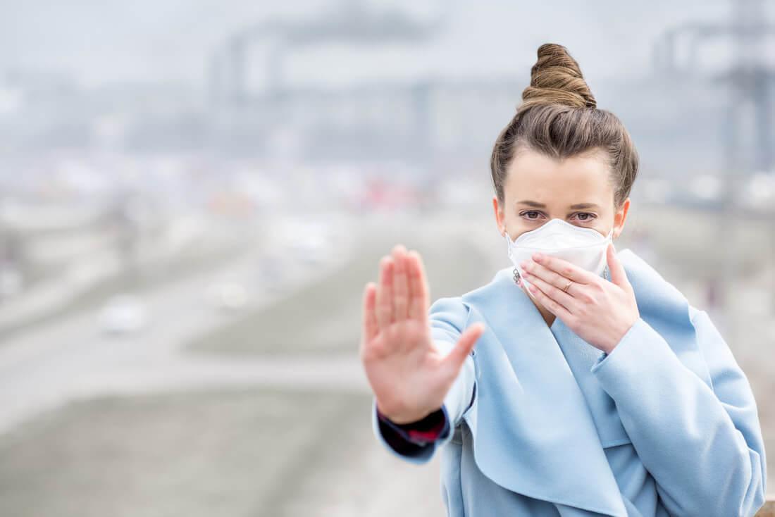 Анти смог защита и мерки за предпазване на дихателната система.