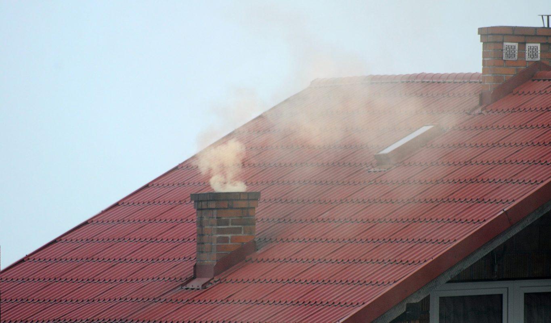 Замърсяване на въздуха с твърди частици при използване на твърдо гориво.