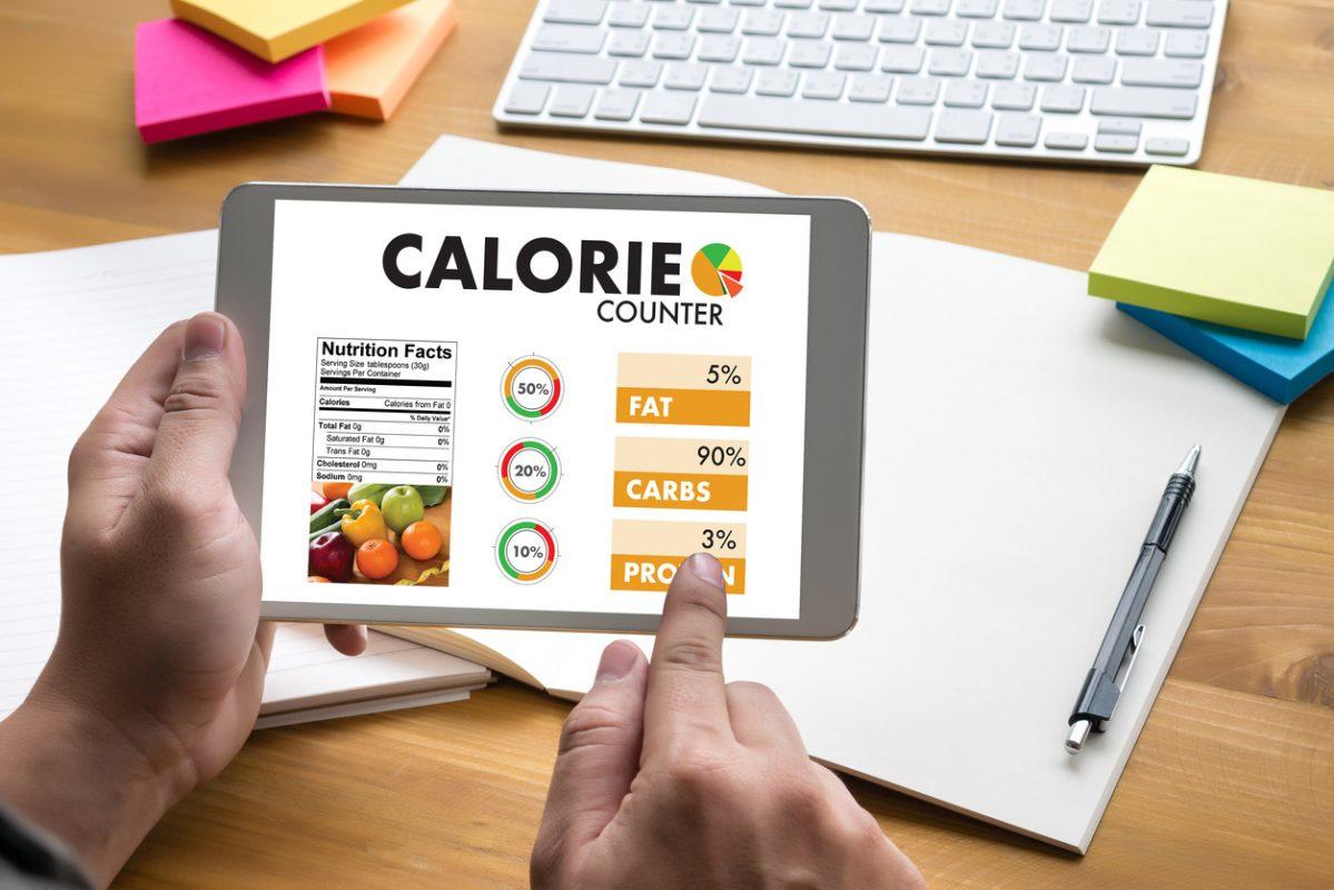 Изчисляване на приеманото количество енергия чрез храната с калкулатор на калориите.