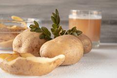 Сок от картофи за козметика на кожата.