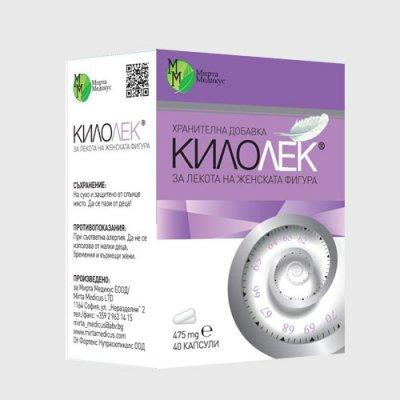 Килолек - продукт на билкова основа за отслабване и оптимално тегло произведен от Мирта Медикус