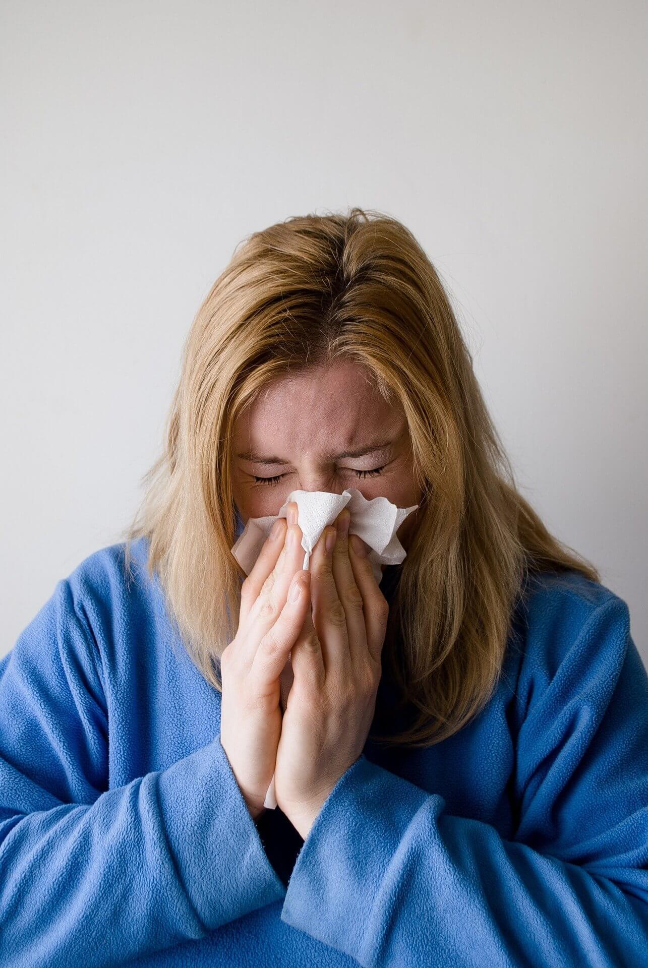 жена си духа носа алергия болки